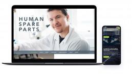 Human Spare Parts verkkosivusto